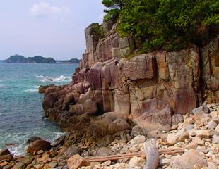大狗子半島の海岸