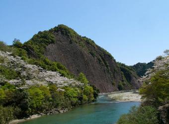 古座川の一枚岩(古座川町)